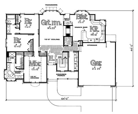 560 sq ft traditional style house plan 3 beds 2 5 baths 1808 sq ft