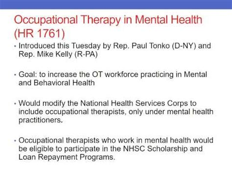 what is therapy in mental health occupational therapy in mental health aota s hill day