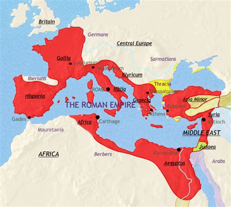 middle east map rome picture