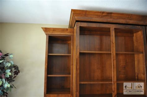 bookcase murphy bed murphy library beds for your home lift stor beds