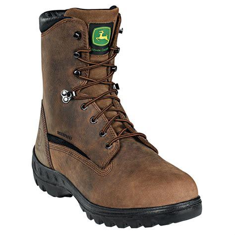 deere work boots for s deere 174 8 quot wct waterproof steel toe work boots