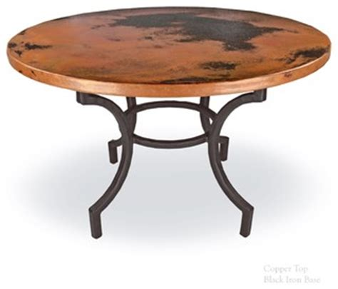 greylock copper top dining table by mathews company mathews company corinthian dining table with 48