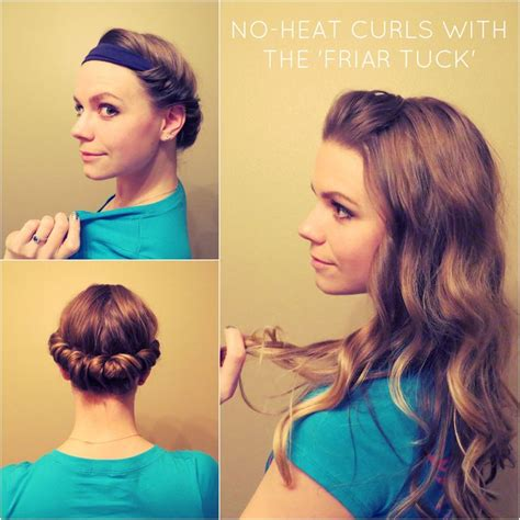 diy hairstyles for thick curly hair diy no heat curls 15 tutorials for curl hair without heat