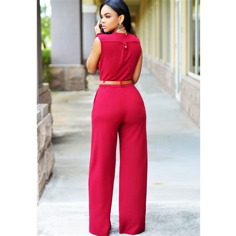 Baju Jumpsuit Baju Jumpsuit Wanita Rompers V Neck Size L