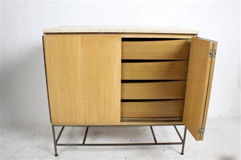 Accordion Kitchen Cabinet Doors Paul Mccobb Accordion Door Cabinet With Travertine Top For Sale At 1stdibs