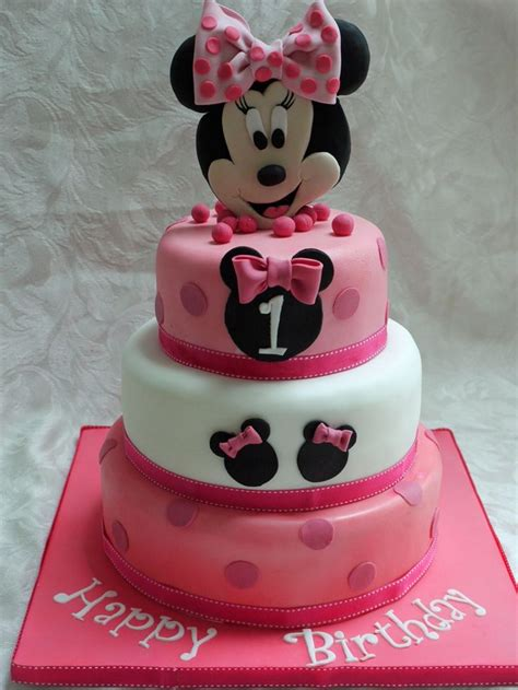 1st birthday themes girl pinterest minnie mouse baby girl 1st birthday cake cakes for me