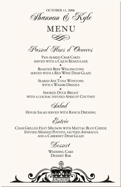 event menu template wedding menu cards vintage monogram menu cards special