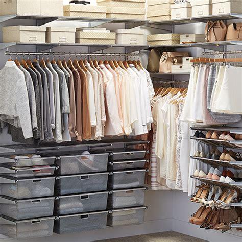 platinum elfa walk in closet the container store
