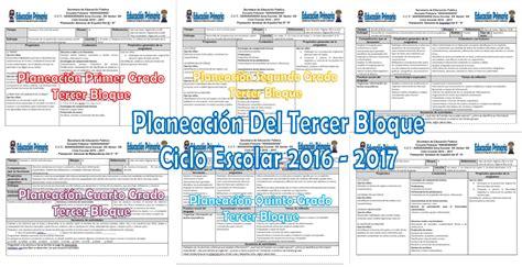 planeacion diaria tercer grado tercer bimestre2016 2017 planeacion tercer grado 2016 2017 planeaciones de todos