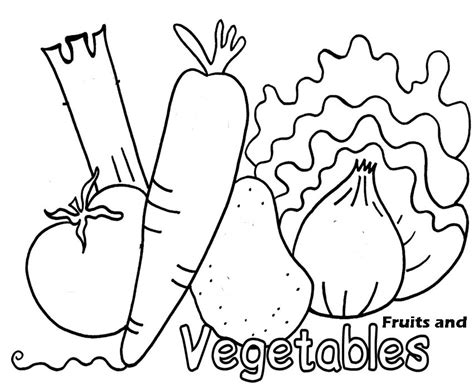 free coloring pages of son vegetables