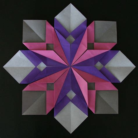 Easy Origami Flowers - origami petals and flower