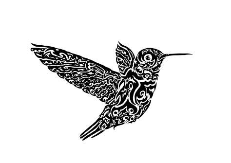 tribal hummingbird tattoo designs black tribal hummingbird design