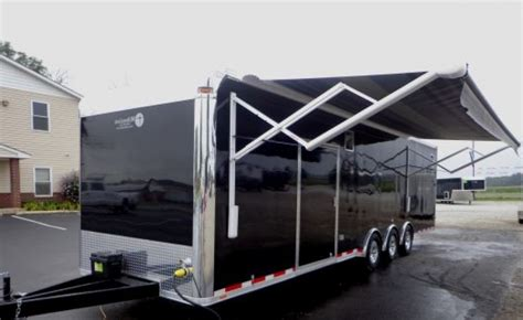 awnings for trailers race trailer awning schwep