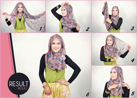 tutorial hijab pashmina chiffon motif burqabloom hijab tutorial simple and easy hijab