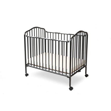 portable mini crib mattress l a baby portable mini crib with mattress black walmart