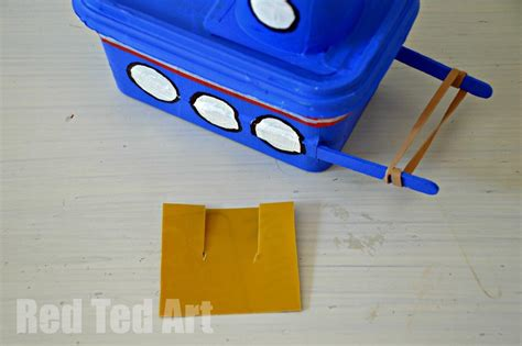 how to make a moving boat out of paper margarine tub tug boat craft red ted art s blog
