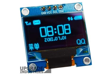 Monitor Oled 128x64 blue i2c oled display 0 96 inch from upgradeindustries on tindie