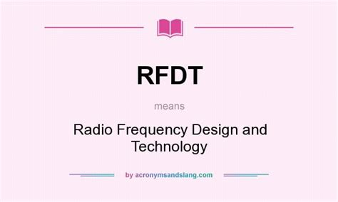 design technology definition what does rfdt mean definition of rfdt rfdt stands
