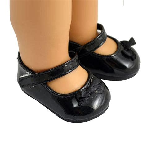 american doll shoes black color doll shoes boots for 18 inch american ebay