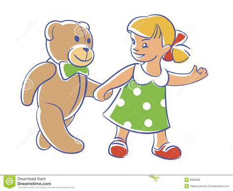 come on teddy let s walk royalty free stock photos