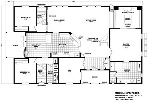cavco homes floor plans cps 7040a homes direct