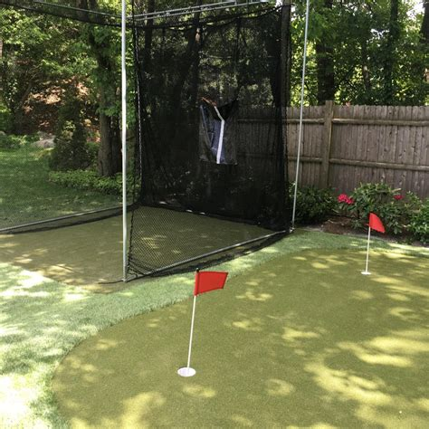 pictures  backyard putting greens synthetic turf