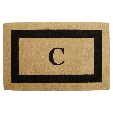 Personalized Coir Door Mats by Creative Accents Single Picture Frame Black 30 In X 48 In