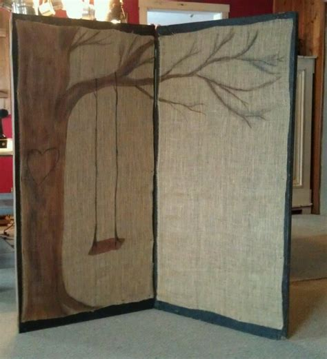 hanging wall dividers oh so cute screen room divider with hand painted burlap