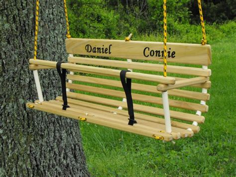 Personalized Toddler Swing For Two Twins Handcrafted