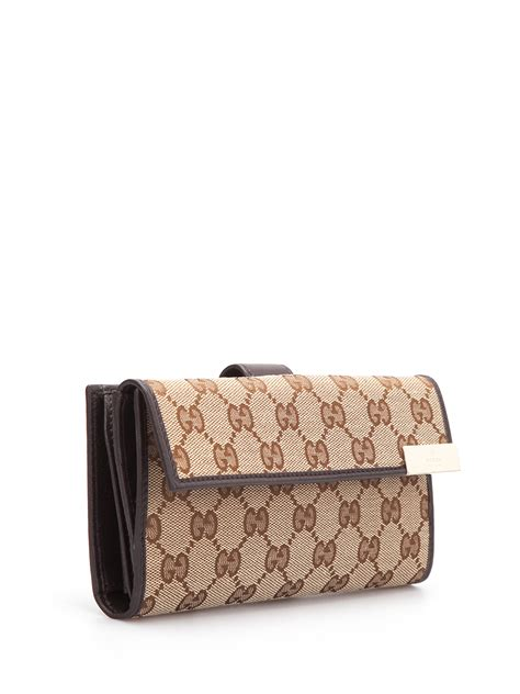 Wallet Gucci Canvas 5521a gg canvas continental wallet by gucci wallets purses ikrix