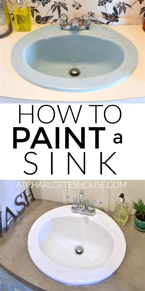 painting bathroom sink how to paint a sink