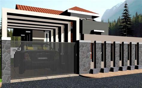 Fhasion Pagar 2 pagar rumah minimalis type 45 gambar desain pagar besi contoh gambar rumah