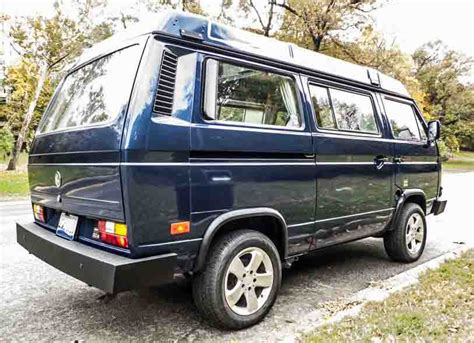 volkswagen vanagon blue 1991 vw vanagon westfalia cer auction in washington d c