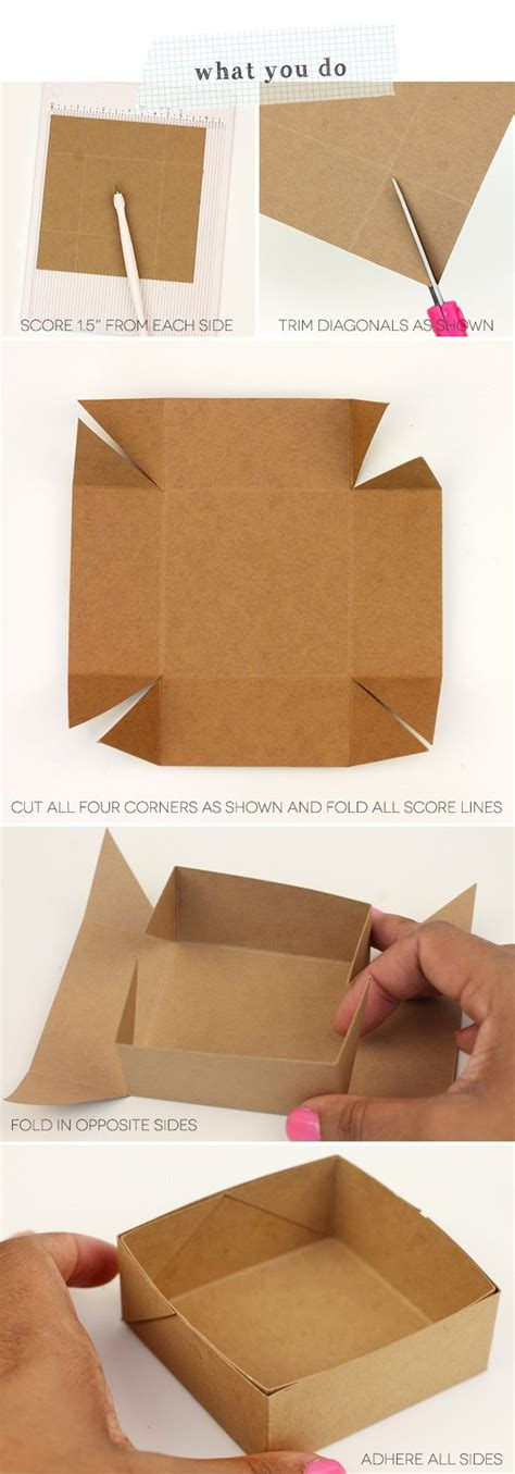 How To Make A Box From A4 Paper - 25 best ideas about diy box on box diy gift