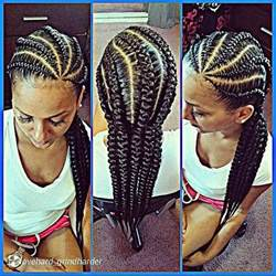 large cornrow hairstyles 8 big corn row styles we are loving on pinterest