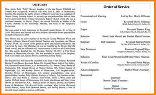 5 sample obituary letter format for