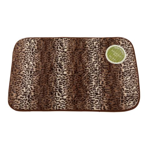 cheetah print bathroom accessories carnation home fashions animal print faux fur 20 x 31 in