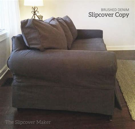 pottery barn denim sofa slipcovers sofa slipcovers the slipcover maker