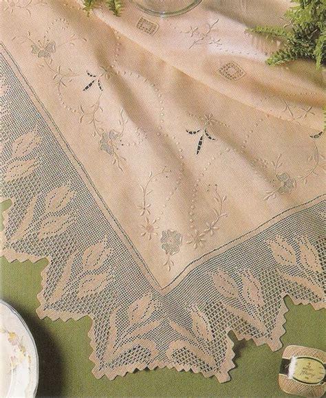 manteles tejido a crochet con tela trico y crochet madona m 237 a manteles de crochet y tela con