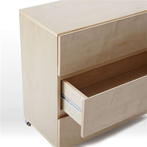 Closet Drawers System by Monorail Closet System 3 Drawer Unit West Elm