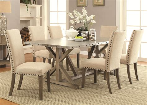 Setting Dining Room Table Coaster Furniture 105571 105572 7 Pc Dining Set