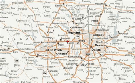 map of euless texas euless stadsgids