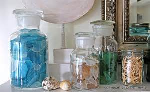Sea Glass Bottles Ideas Craftiments Themed Summer Mantel Reveal