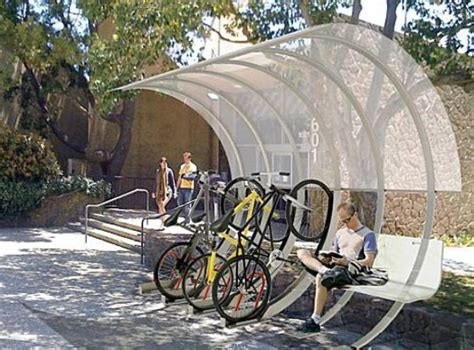 Covered Bike Rack by House Arc Modular Home Was Inspired By A Bike Rack Elite