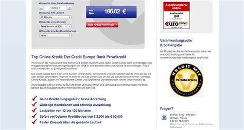 Musterbrief Bearbeitungsgebühr Kredit Test Credit Europe Kredit Erfahrungen Test Erfahrungsbericht 06 17