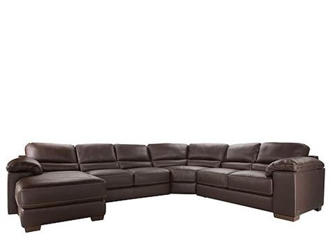 cindy crawford leather sofa cindy crawford maglie 4 pc leather sectional sofa dark