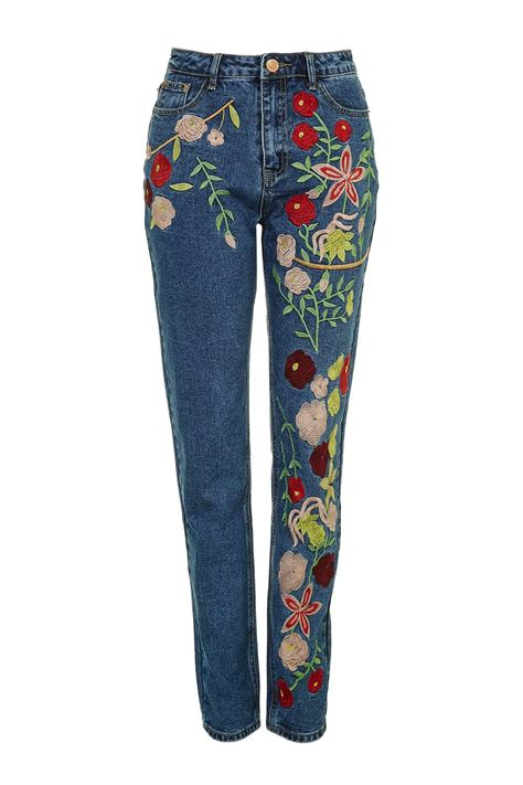 embroidery design jeans embroidered jeans by glamorous brands topshop