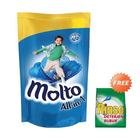 Molto Botol 800ml Sekali Bilas jual groceries molto all in 1 sekali bilas pelembut dan pewangi pakaian pouch blue 1800 ml
