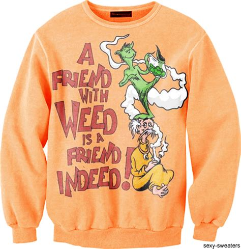 Sweater 420 Jidnie Clothing sweaters dr seuss 420 420 lollerskates cannabis clothes and