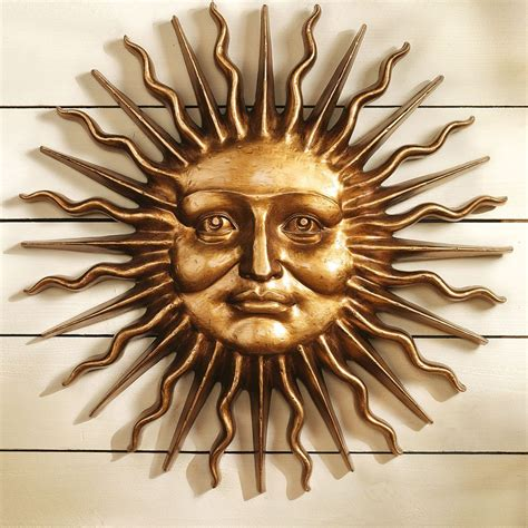 Sun Sculpture | design toscano sloane square greenman sun wall sculpture